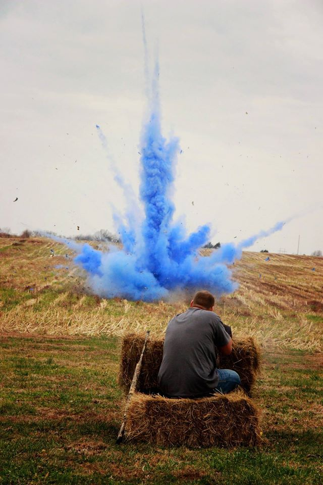 Tannerite and chalk gender reveal - Lauren Cook Photography