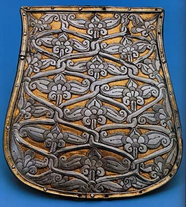 """""""Tree of Life"""" design on a Magyar sabretache plate."""