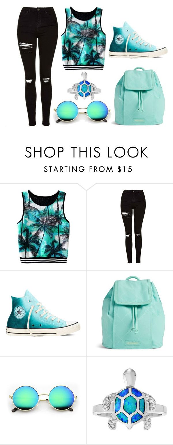 """""""Untitled #326"""" by cuteskyiscute ❤ liked on Polyvore featuring Topshop, Converse and Vera Bradley"""