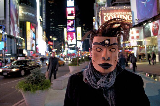 A mask in New York By Rande cook #randecook#newyork#art