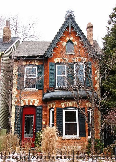 27 best old houses gothic revival images on pinterest for Gothic victorian house