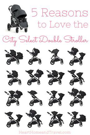 The City Select Double Stroller is perfect for the growing family! With 16 combinations, it's one of the most versatile strollers available! * Infant and toddler * Double * Single * Best - via @hearthometravel