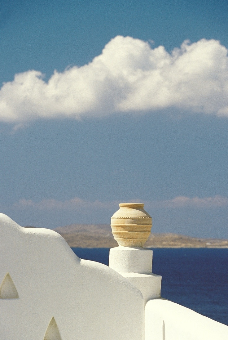 Located on north west part of the resort. The chimney is located above a Dolphins of Delos Restaurant - Mykonos Grand Hotel & Resort