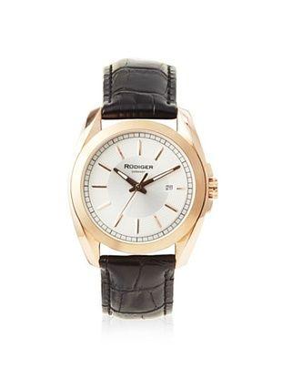 79% OFF Rudiger Men's R1001-09-001L Dresden Rose/Black Leather Date Watch