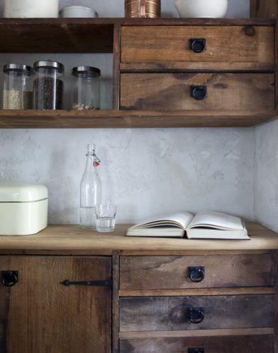wood cupboards