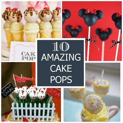 10 Amazing Cake Pops! #cakepops