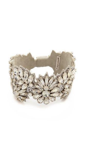 Deepa Gurnani Crystal Statement Bracelet