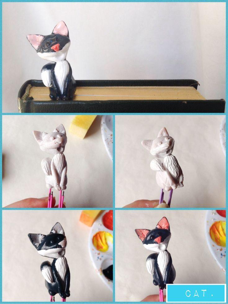 How to paint the cat sculpt.