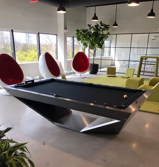 Drawing Influence From The Stealth Bomber Aircraft 11 Ravens Brings A Model That Is Precision Engineered And U In 2020 Modern Pool Table Pool Table Custom Pool Tables
