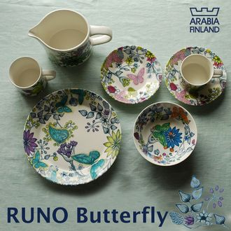 Arabia Runo Butterfly dishes Love these!