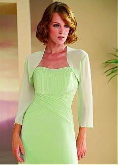 Long Sleeves Chiffon Jacket Match Prom Dress