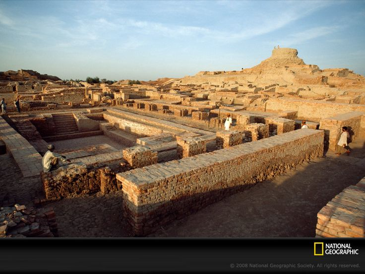 The Indus River Valley civilization, which built the city of Mohenjo Daro (shown here), arose in what is now Pakistan about 4,500 years ago. Mohenjo Daro and its sister city, Harappa, each had some 40,000 residents at their peak in 2500 B.C.