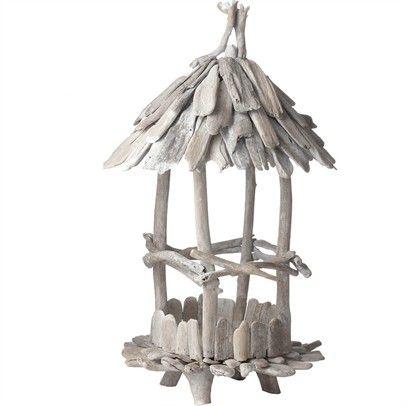 OZSALE - Bleached Driftwood Birdfeeder - Small-356009-Natural