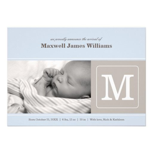 592 Best Images About Baby Birth Announcements On