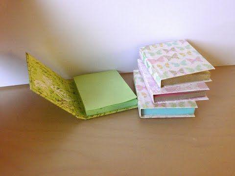 DIY Sticky Note Books - YouTube