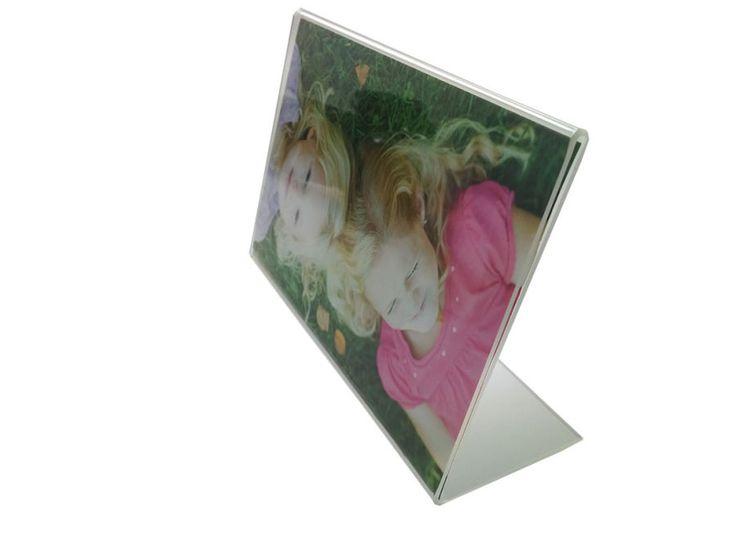 Portafoto in plexi rettangolare orizzontale per bomboniera fai da te (JT)