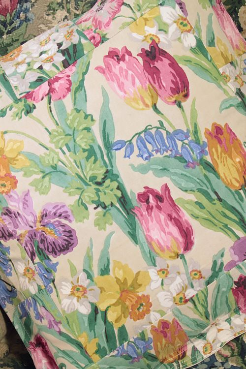 vintage Sanderson- lovely floral fabric, gorgeous colours!