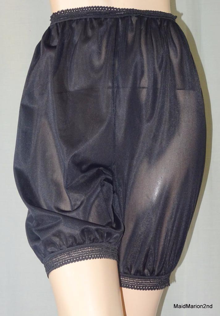 Vintage Sheer Black Nylon Lace Waist DK'S Directoire Knickers Panties MED O | eBay