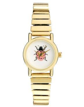 Reloj extensible con mariquita de ASOS