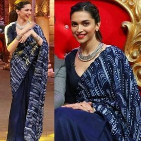 """96 Likes, 8 Comments - Elan - The Fashion Store (@elan_thefashionstore) on Instagram: """"Deepika in a gorgeous Anamika Khanna saree! A match made in fashion heaven! Shop the designer at…"""""""