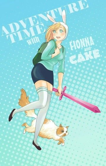 Cake the cat and Fionna the human>°<