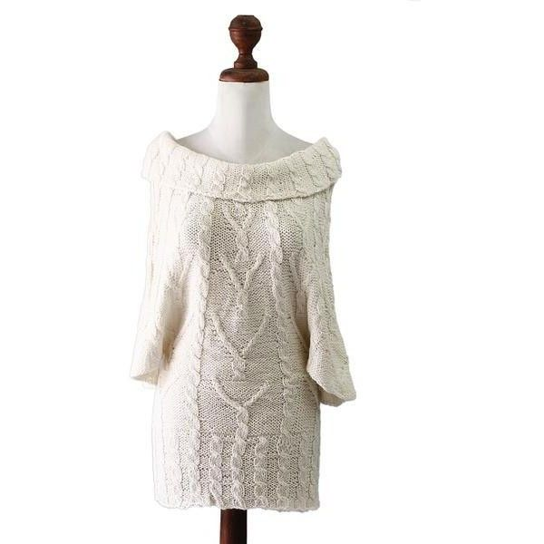NOVICA 100% Alpaca Tunic Top ($150) ❤ liked on Polyvore featuring tops, tunics, clothing & accessories, ivory, white tunic, white poncho, cowl neck tops, cowlneck tunic and 3/4 length sleeve tops