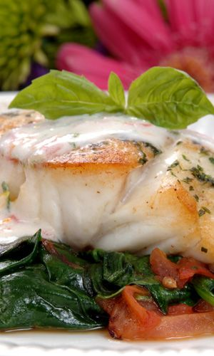 Florida Grouper Coconut Florentine, but will be doing the North Carolina version