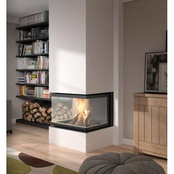 insert 3 faces carr deco stove fireplace fireplace. Black Bedroom Furniture Sets. Home Design Ideas