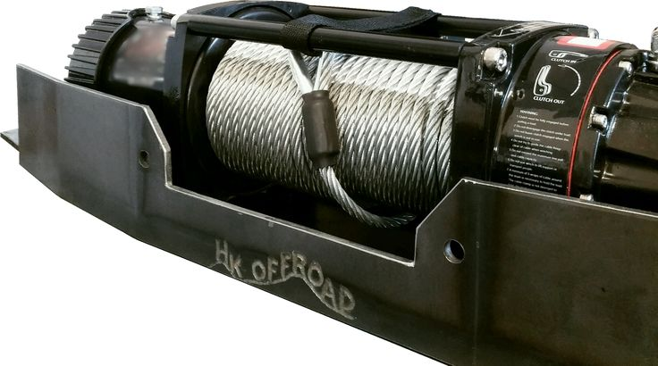 """Built to order. Build time is 14 business days. Offered in """"Primered - Ready to Paint"""" 100% hand-made in the U.S.A. in Lebec California. 1999 - 2004 Jeep Grand Cherokee WJ Hidden Winch Mount. All Hard"""