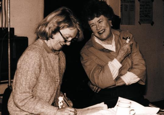 Julia Child with Judith Jones cookbook editor