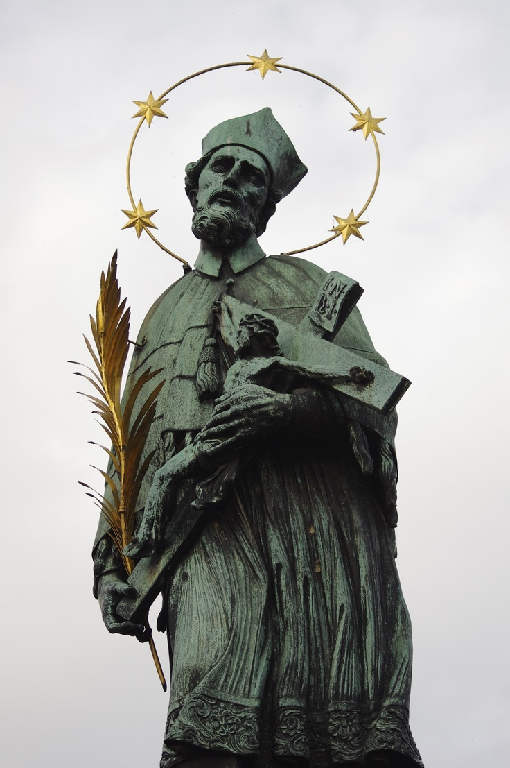 St. John of Nepomuk status on the Charles Bridge, Prague
