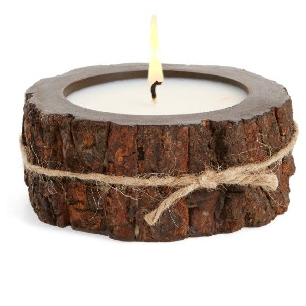 Himalayan Trading Post Tree Bark Candle ($30) ❤ liked on Polyvore featuring home, home decor, candles & candleholders, mountain forest, winter candles, aromatic candles, fragrance candles, rustic home accessories and scented candles