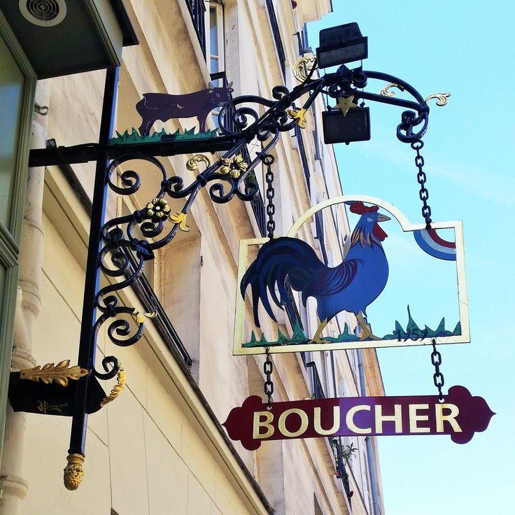 Le coq - enseigne de boucherie  - 7ème Paris