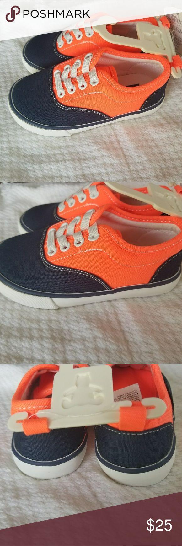 Selling this Babygap Orange And Blue Sneakers size 7 on Poshmark! My username is: urmusthaves. #shopmycloset #poshmark #fashion #shopping #style #forsale #babygap #Other