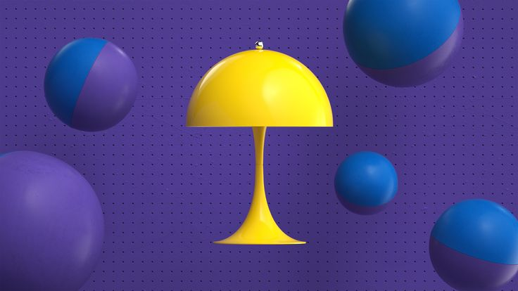 Here it's the Yellow version of Panthella MINI from our latest campaign video. Panthella MINI is a smaller version of Verner Panton's classic Panthella lamp from 1971.