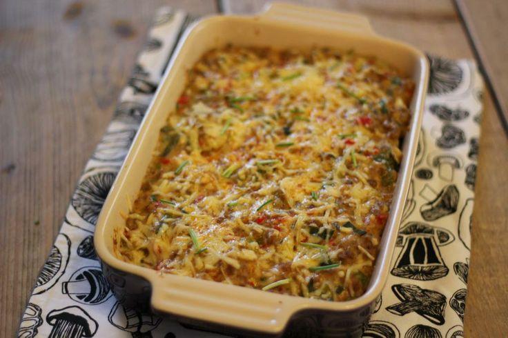 Ovenschotel met gehakt, prei en aardappel - Lekker en simpel