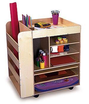 Art storage for children. Clutter Free Kids has kids storage bins for art and toy storage.