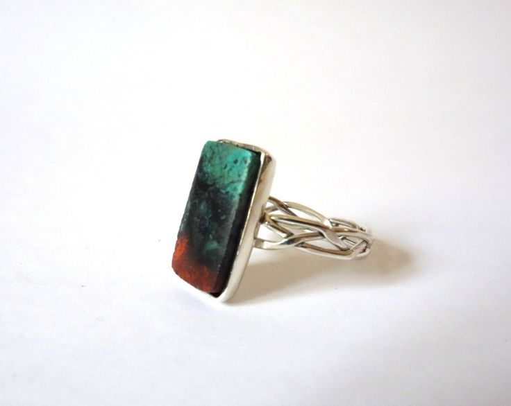 Sterling Silver Rectangular Sonora Sunset Ring by Picossa on Etsy