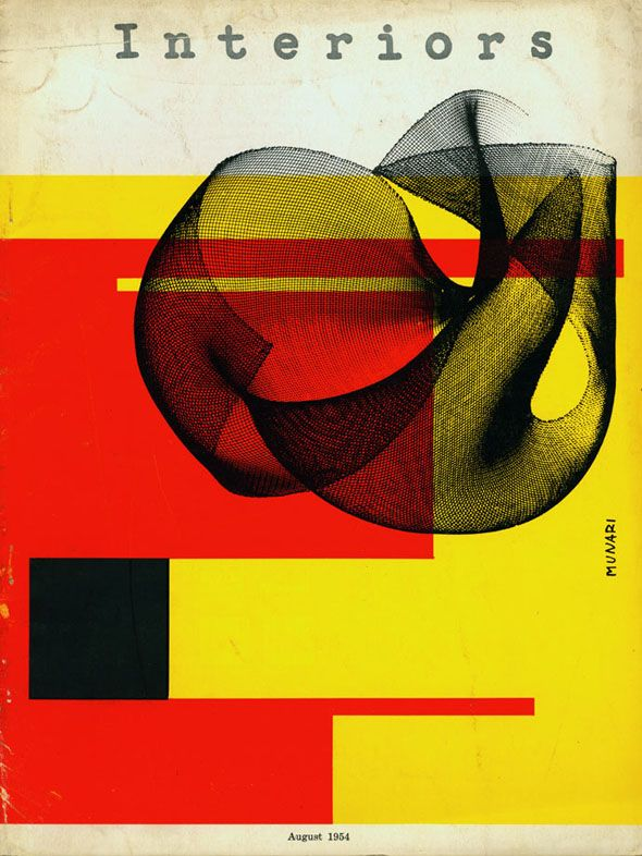 :: Interiors magazine design by Bruno Munari, 1954 ::