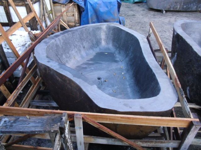 Freestanding River Rock  Bathtub 2100 mm x 1800 mm x 590 mm approx