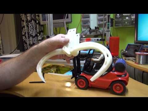 3D printing an RC (claw and long forks) - YouTube