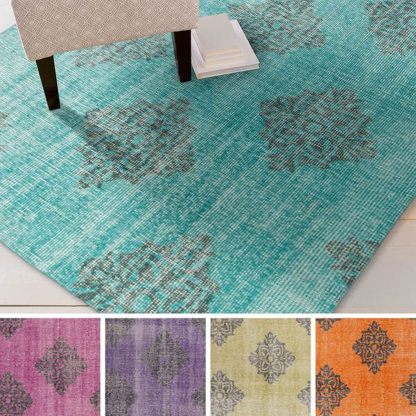 Hand-knotted Crediton Contemporary Wool Rug (5'6 x 8'6)