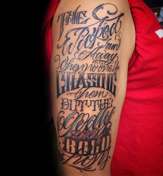 50 Best Scripture / Bible Verse Tattoos For Men Images On