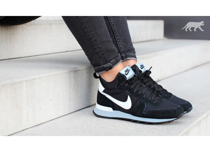 Nike wmns Internationalist Mid (Black / White - Magnet Grey)