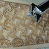 Leather Stamping Tool - E685-S Small Crazy Legs Geometric