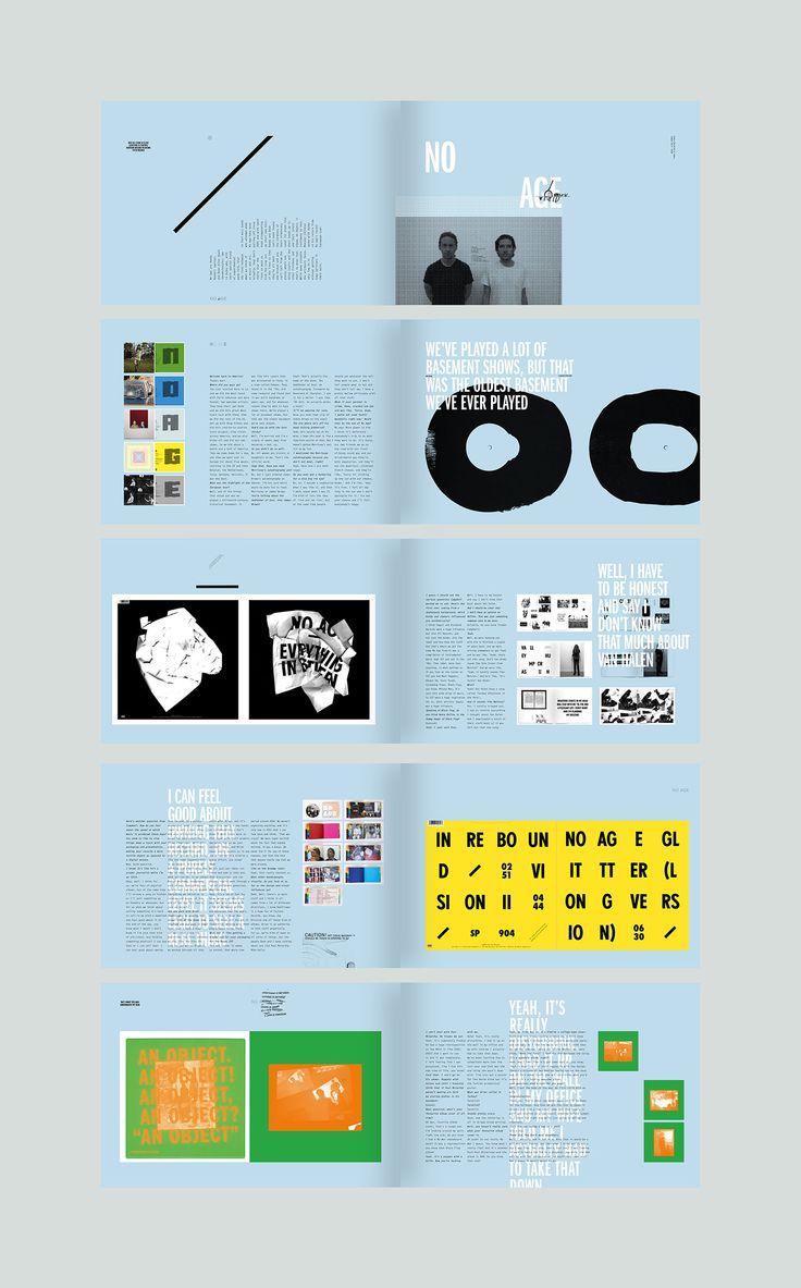 No Age feature. #editorialdesign #layout #typography #monsterchildren #printdesign