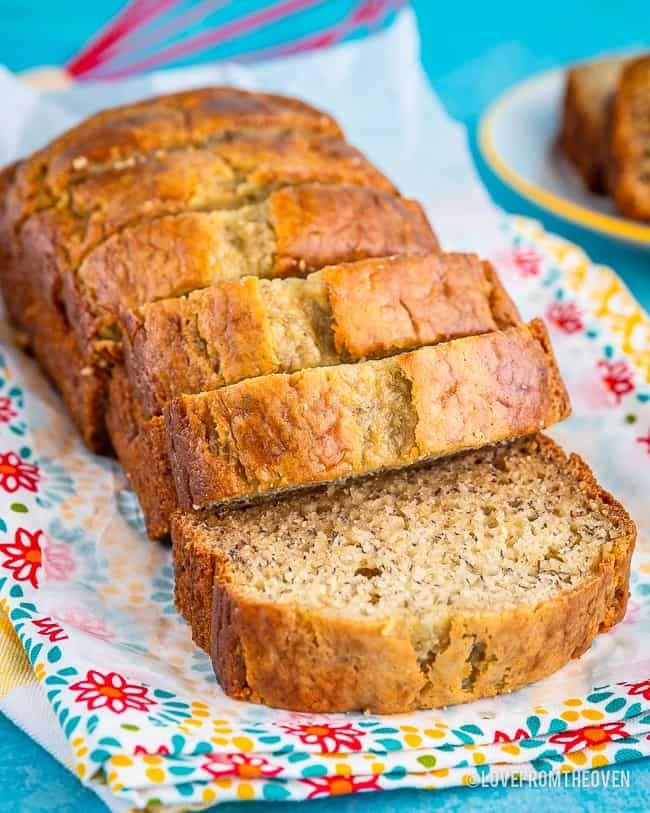 Melt In Your Mouth Sour Cream Banana Bread Love From The Oven In 2020 Sour Cream Banana Bread Delicious Banana Bread Recipe Best Banana Bread