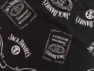 Jack Daniels No 7 - Bandana / Scarf Black and White - NEW