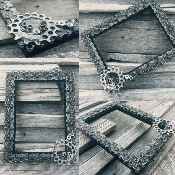 Bike Chains Upcycled Into Frames Bicycle Crafts