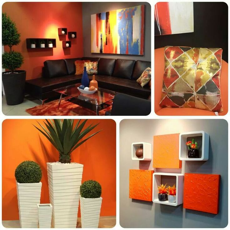 225 best decora home stores in puerto rico images on pinterest for Orange and brown living room ideas